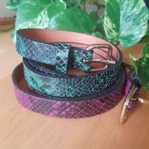 Club Monaco Leather Belts, Size M